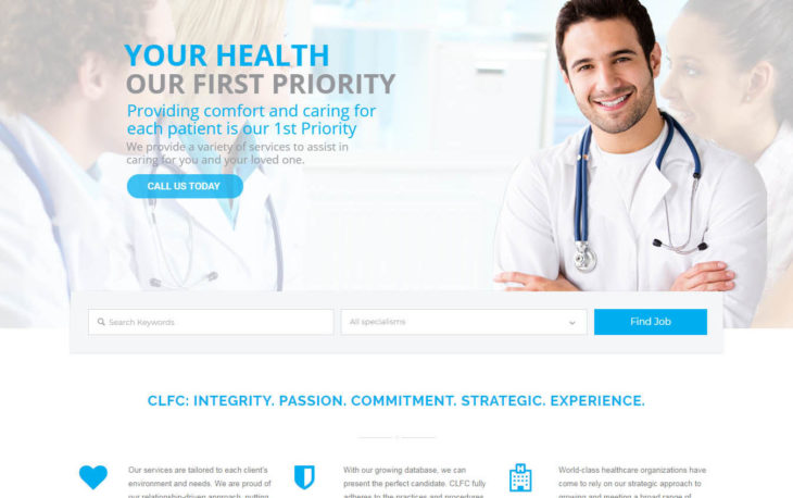 CLF consultants website project