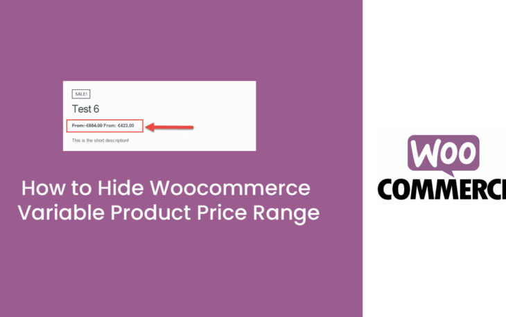 How to Hide Woocommerce Variable Product Price Range