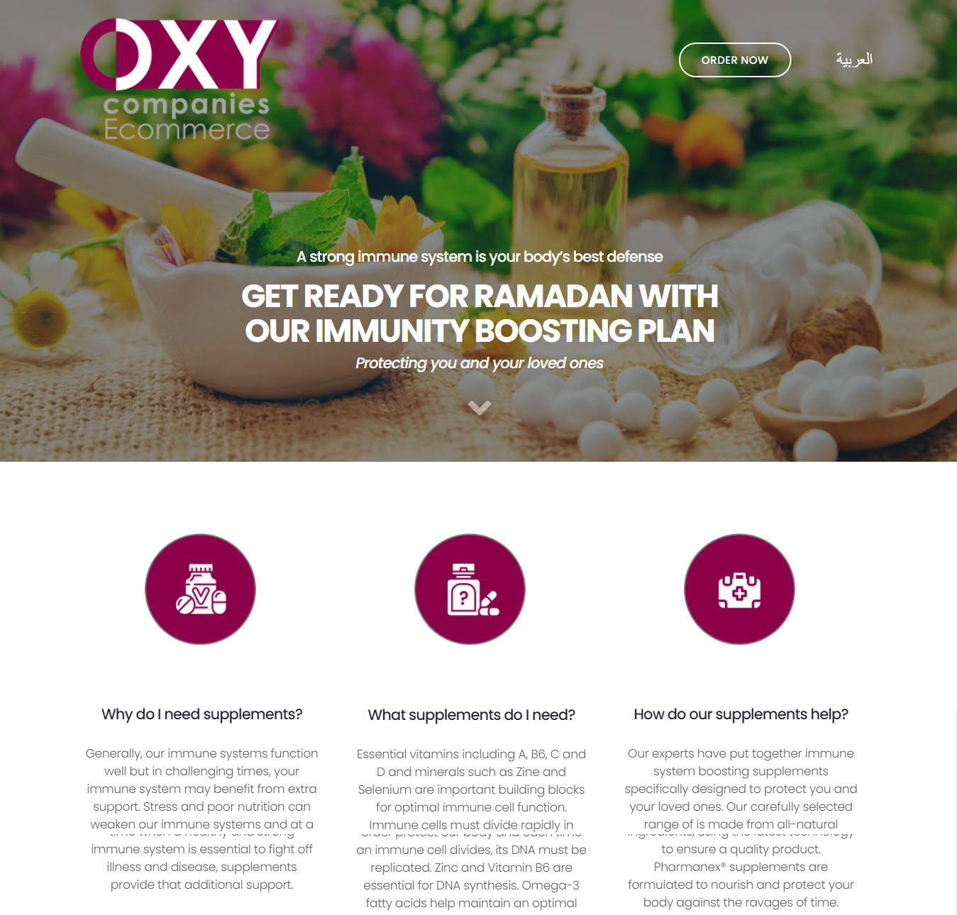 Oxy Companies Food Supplement