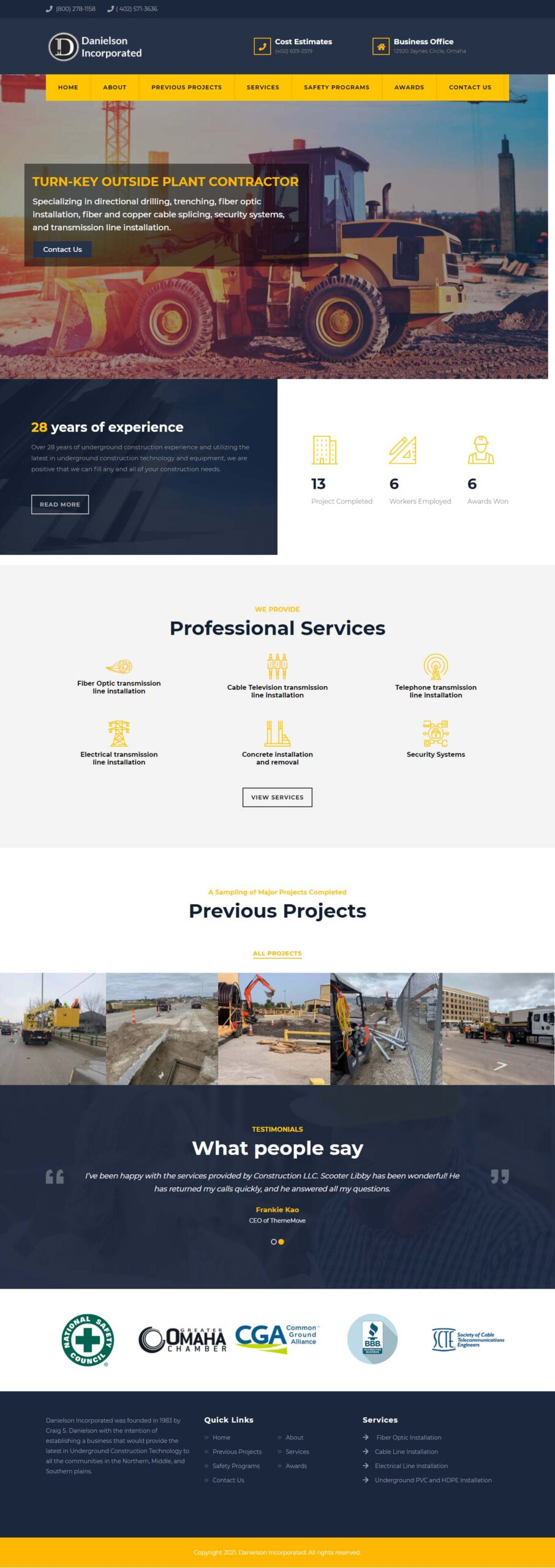Danielson Incorporated website